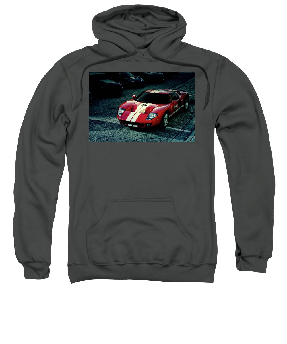 Red Sweatshirt featuring the photograph Red Ford Gt by Joel Witmeyer