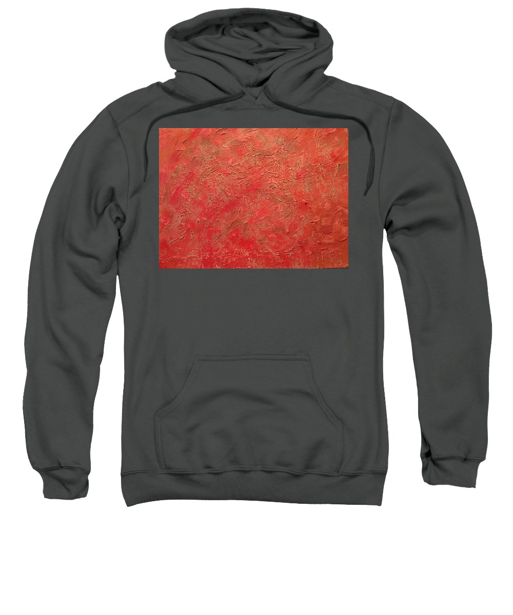 Red Sweatshirt featuring the painting RED by Lisa Gay Wilson