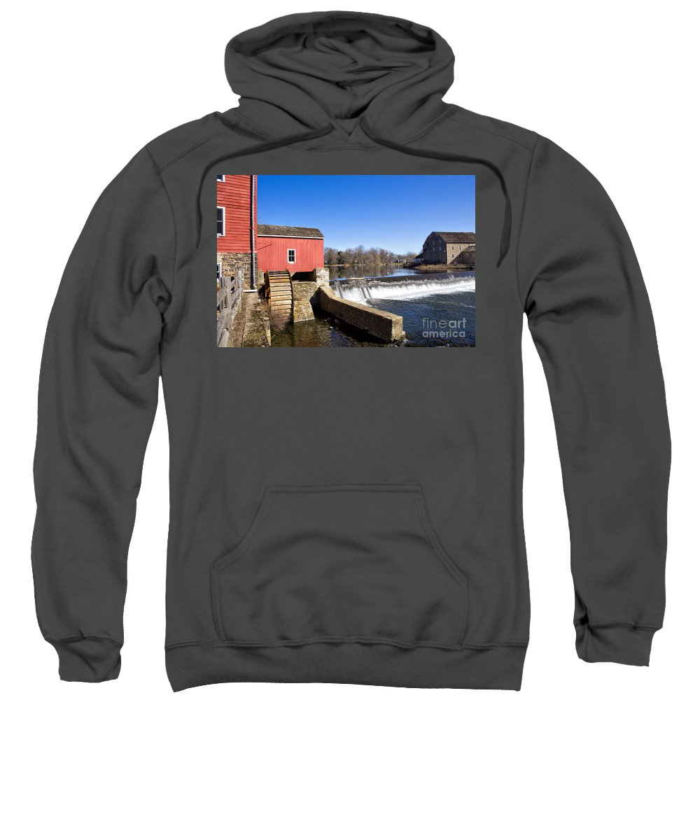 Mill Sweatshirt featuring the photograph Red Mill by Paul Fell