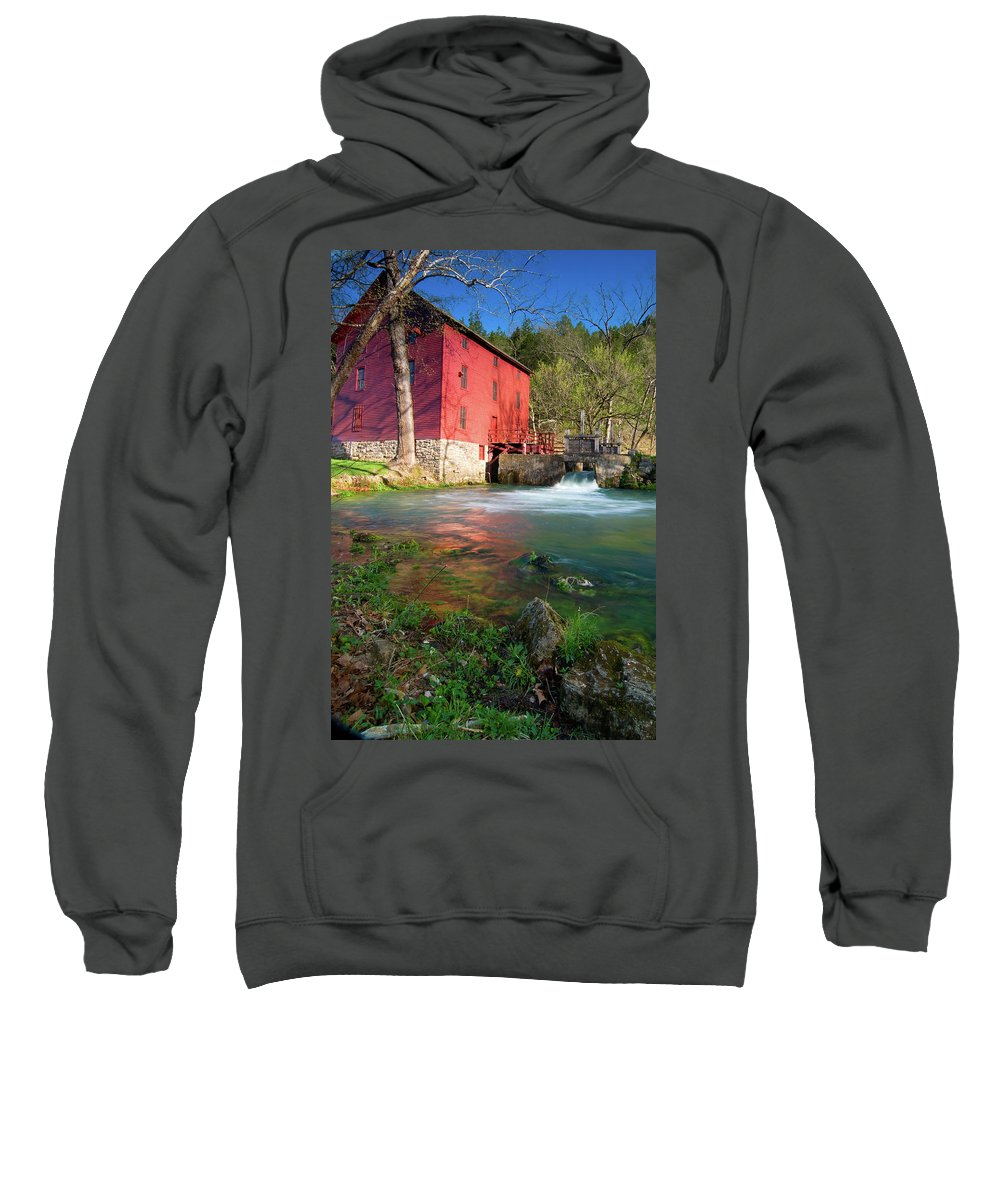 Missouri Sweatshirt featuring the photograph Red Mill by Steve Stuller