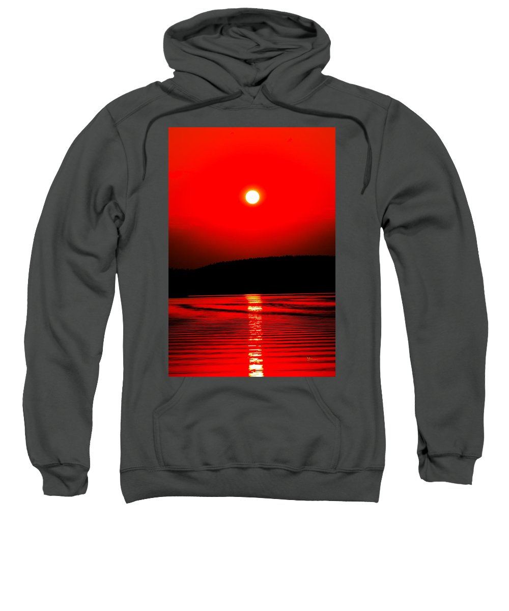 Emotion Sweatshirt featuring the photograph Red Power by Max Steinwald