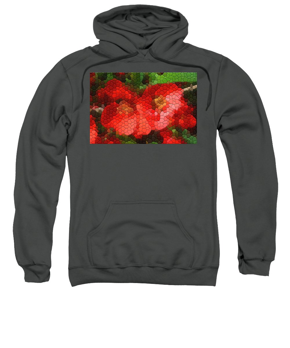 Quince Sweatshirt featuring the photograph Red Quince by Kathryn Meyer