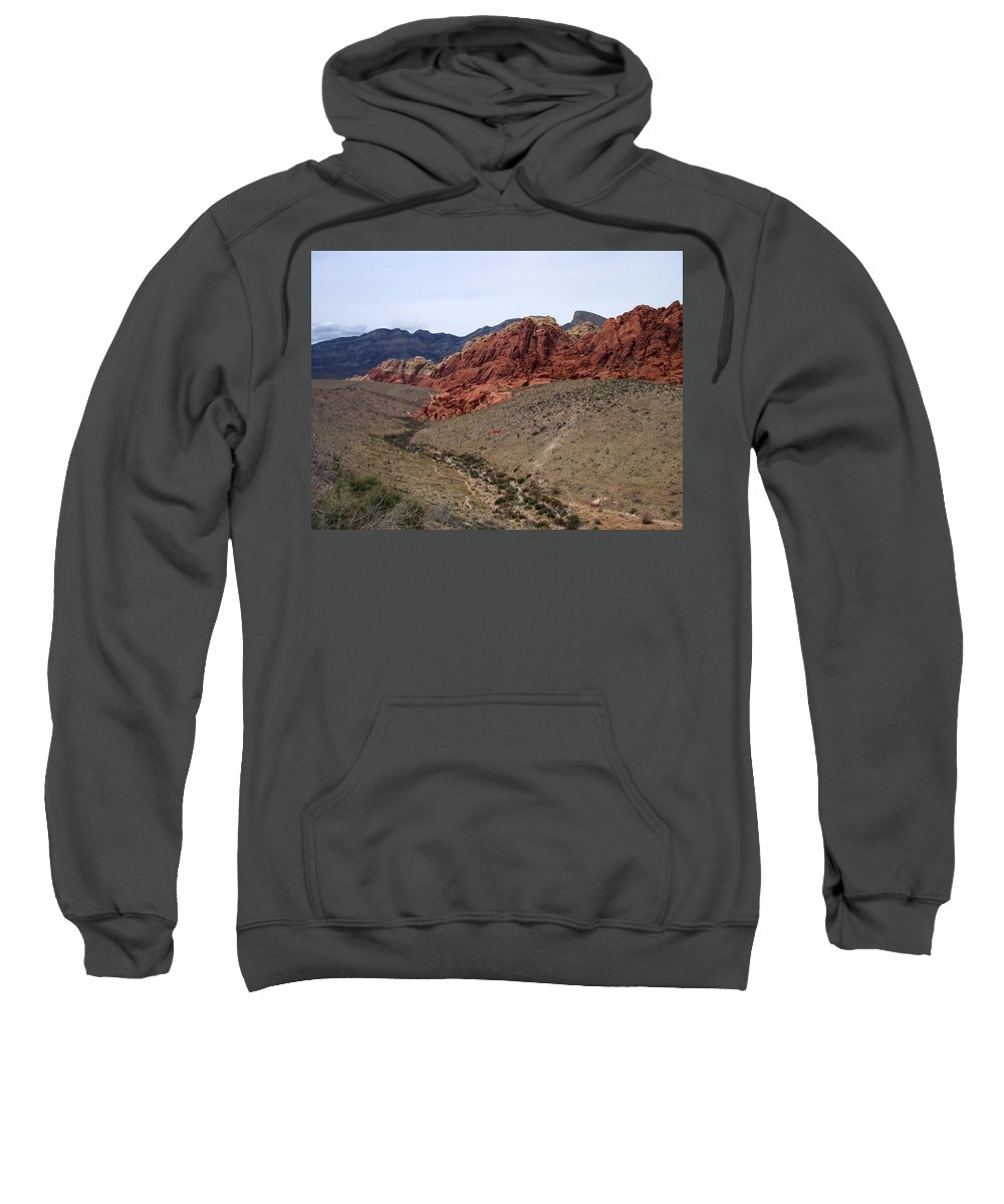 Red Rock Canyon Sweatshirt featuring the photograph Red Rock Canyon 1 by Anita Burgermeister
