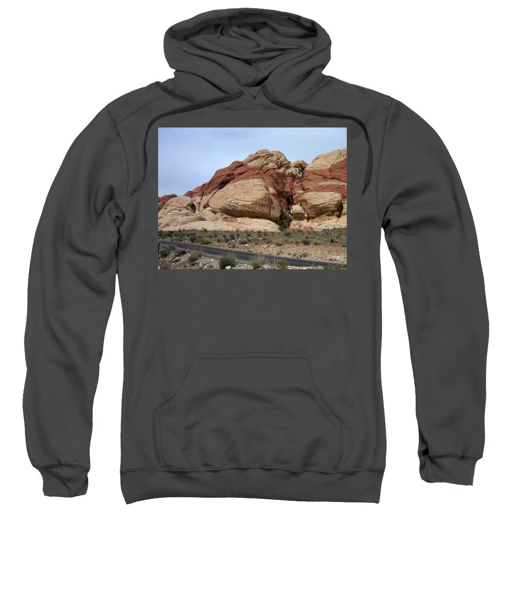 Red Rock Canyon Sweatshirt featuring the photograph Red Rock Canyon 2 by Anita Burgermeister