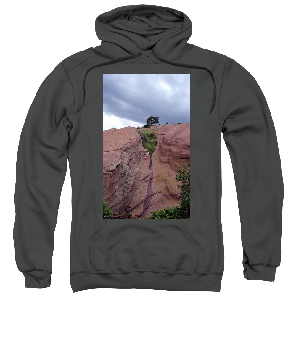 Red Rocks Sweatshirt featuring the photograph Red Rocks by Merja Waters