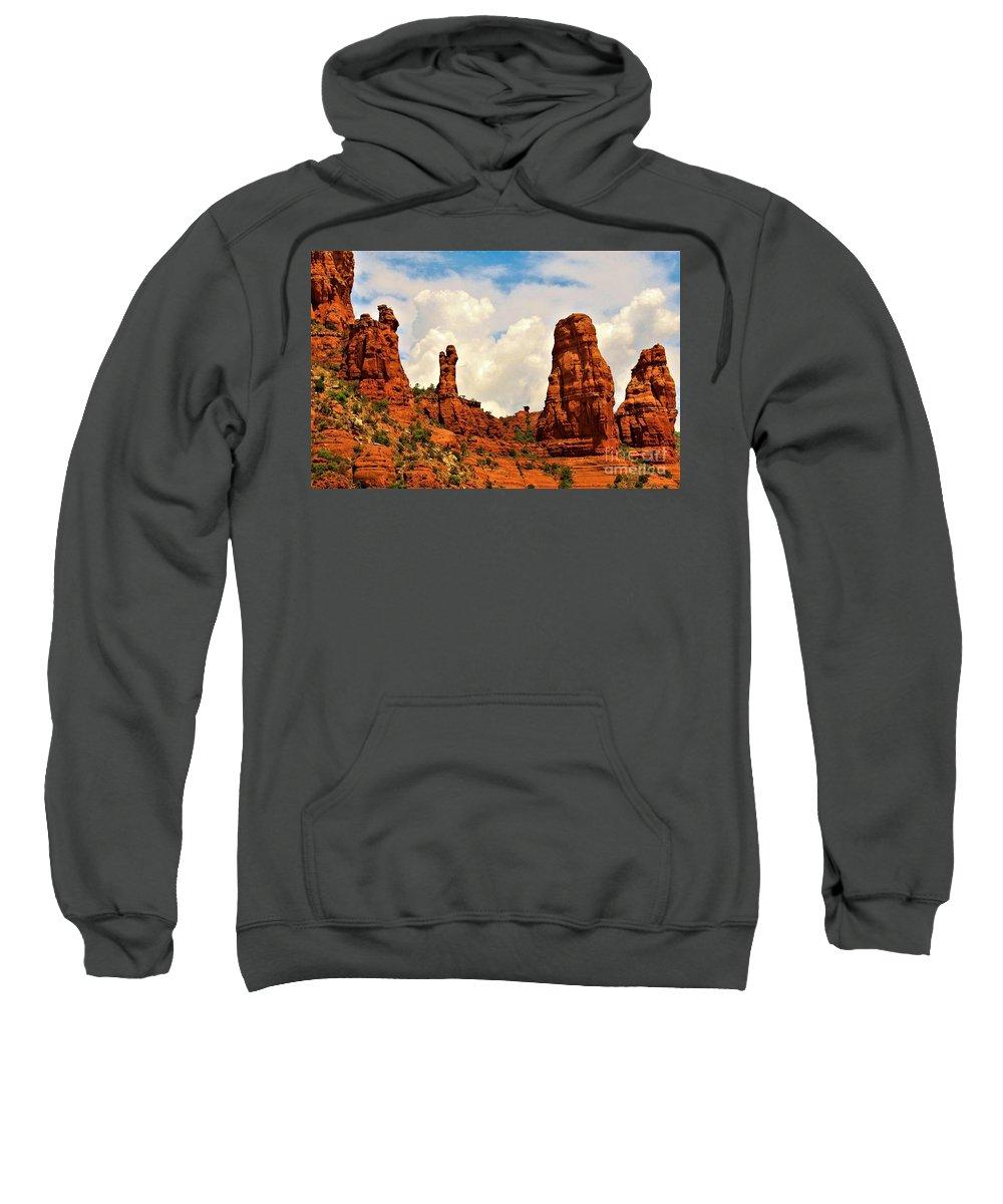 Arizona Sweatshirt featuring the photograph Red Rocks Of Sedona by Melissa McInnis