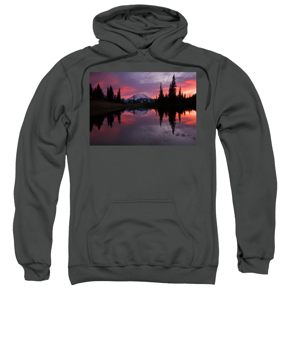 Rainier Sweatshirt featuring the photograph Red Sky At Night by Mike Dawson