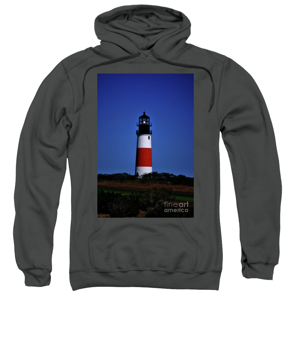 Lighthouse Sweatshirt featuring the photograph Red White And Blue by Lori Tambakis