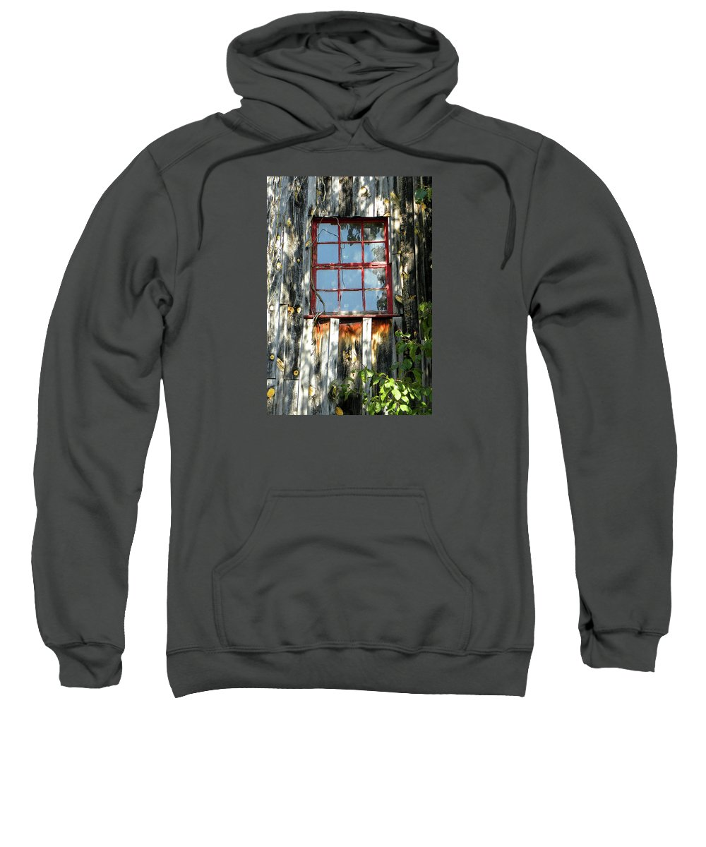 Red Window Sweatshirt featuring the photograph The Red Window by Sandi OReilly