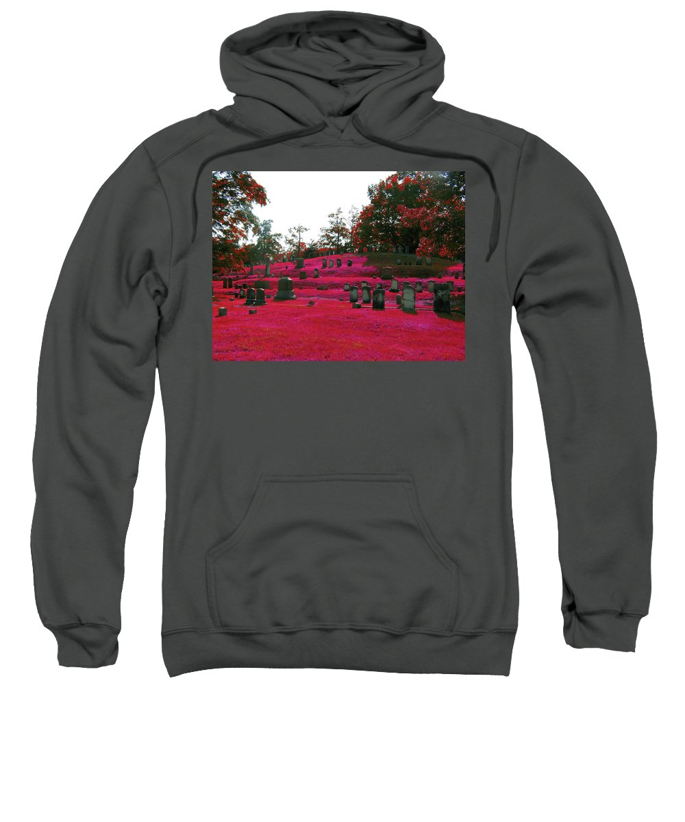 Scenic Sweatshirt featuring the photograph Red With Rage by Erin Rosenblum