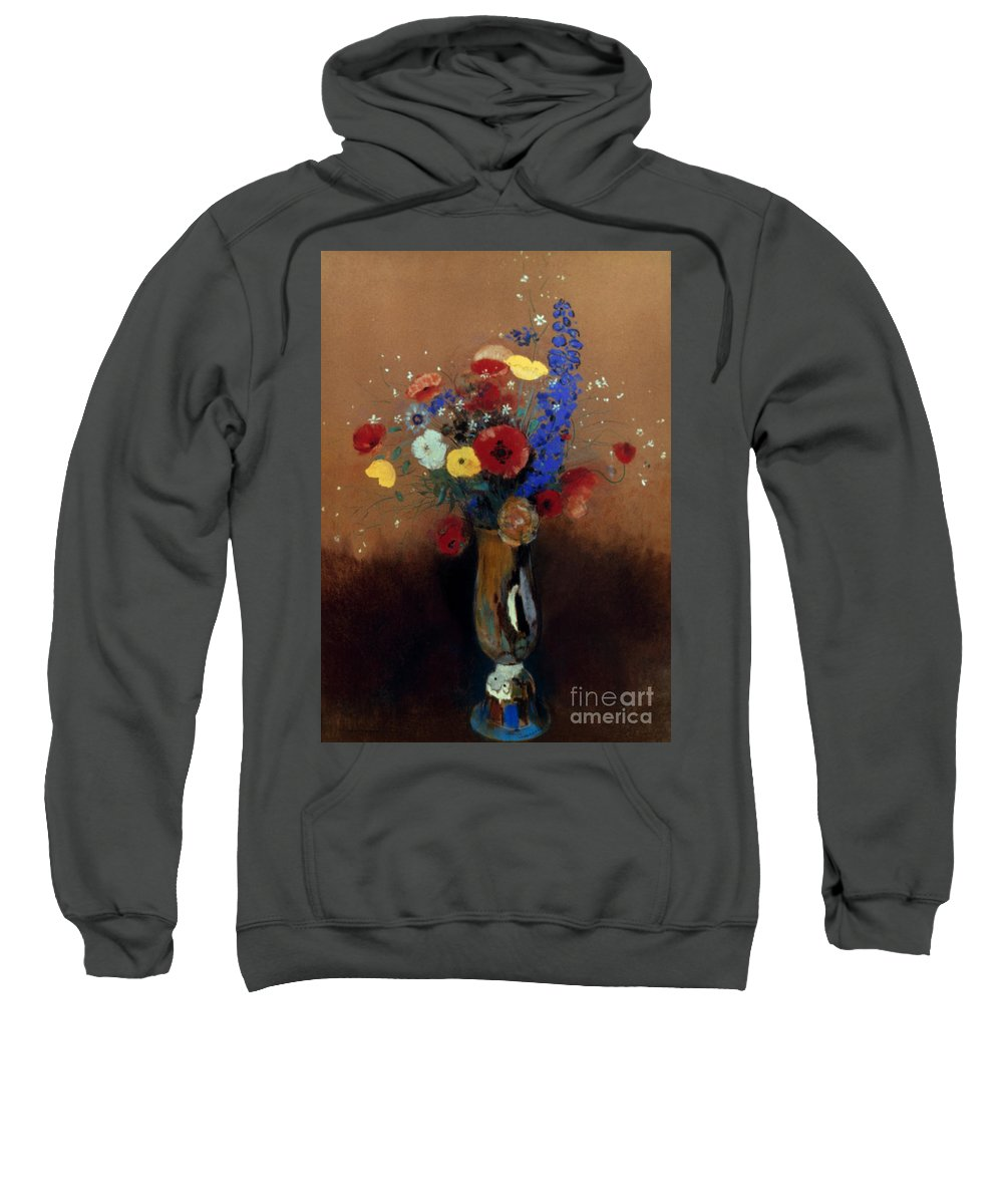 1912 Sweatshirt featuring the photograph Redon: Wild Flowers, C1912 by Granger