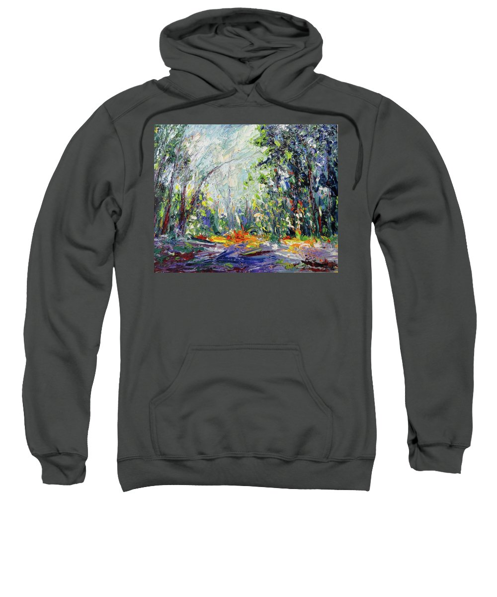 Oil Sweatshirt featuring the painting Redwood Dream by Shannon Grissom