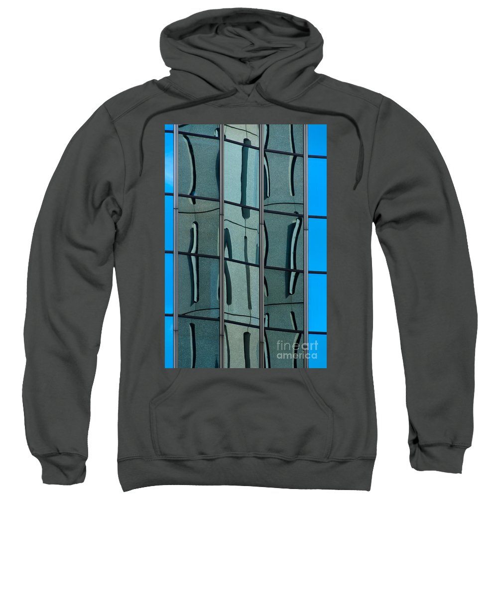 Facade Sweatshirt featuring the photograph Reflecting Eagle 1 by Werner Padarin