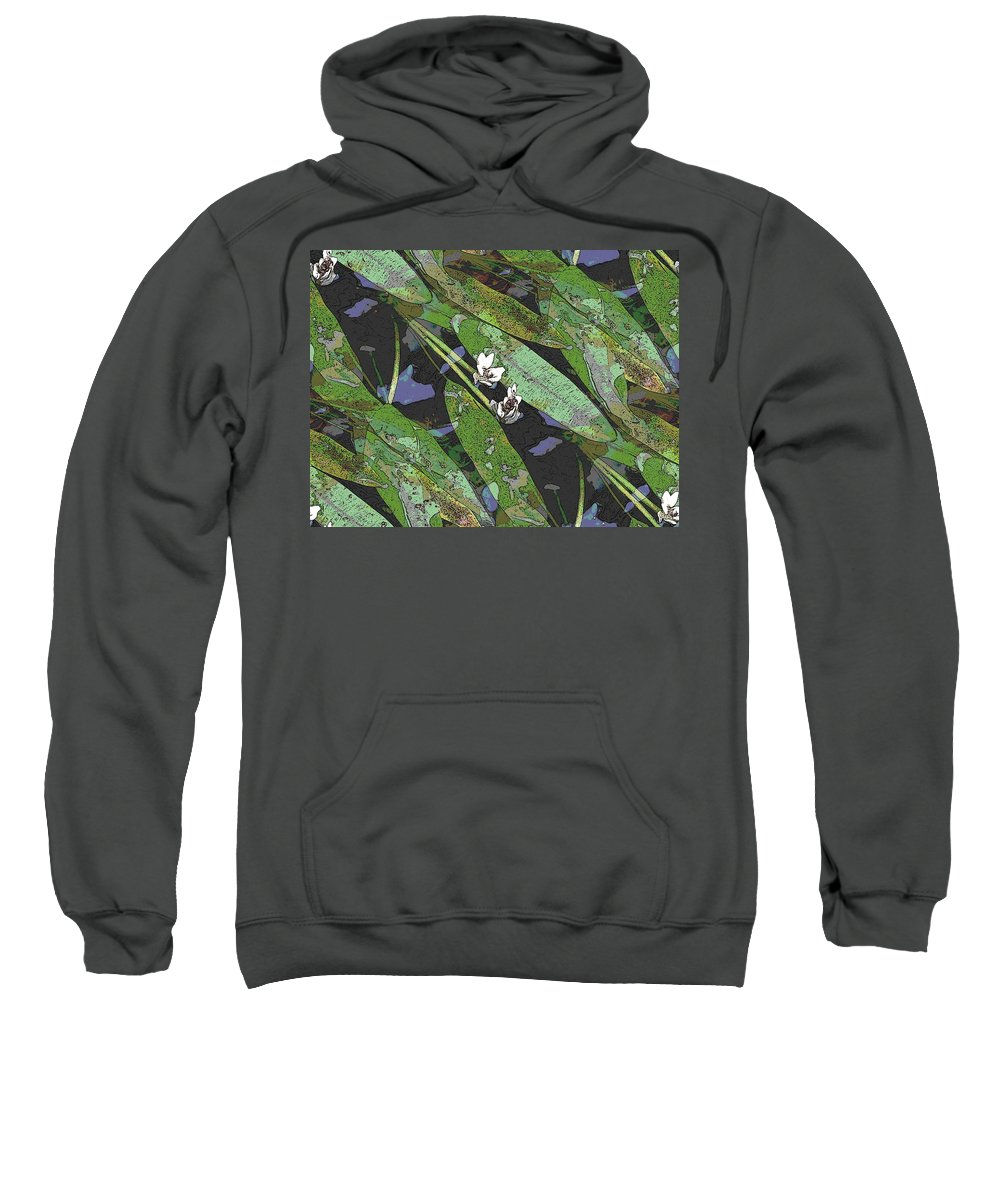 Reflecting Pool Sweatshirt featuring the photograph Reflecting Pool by Tim Allen