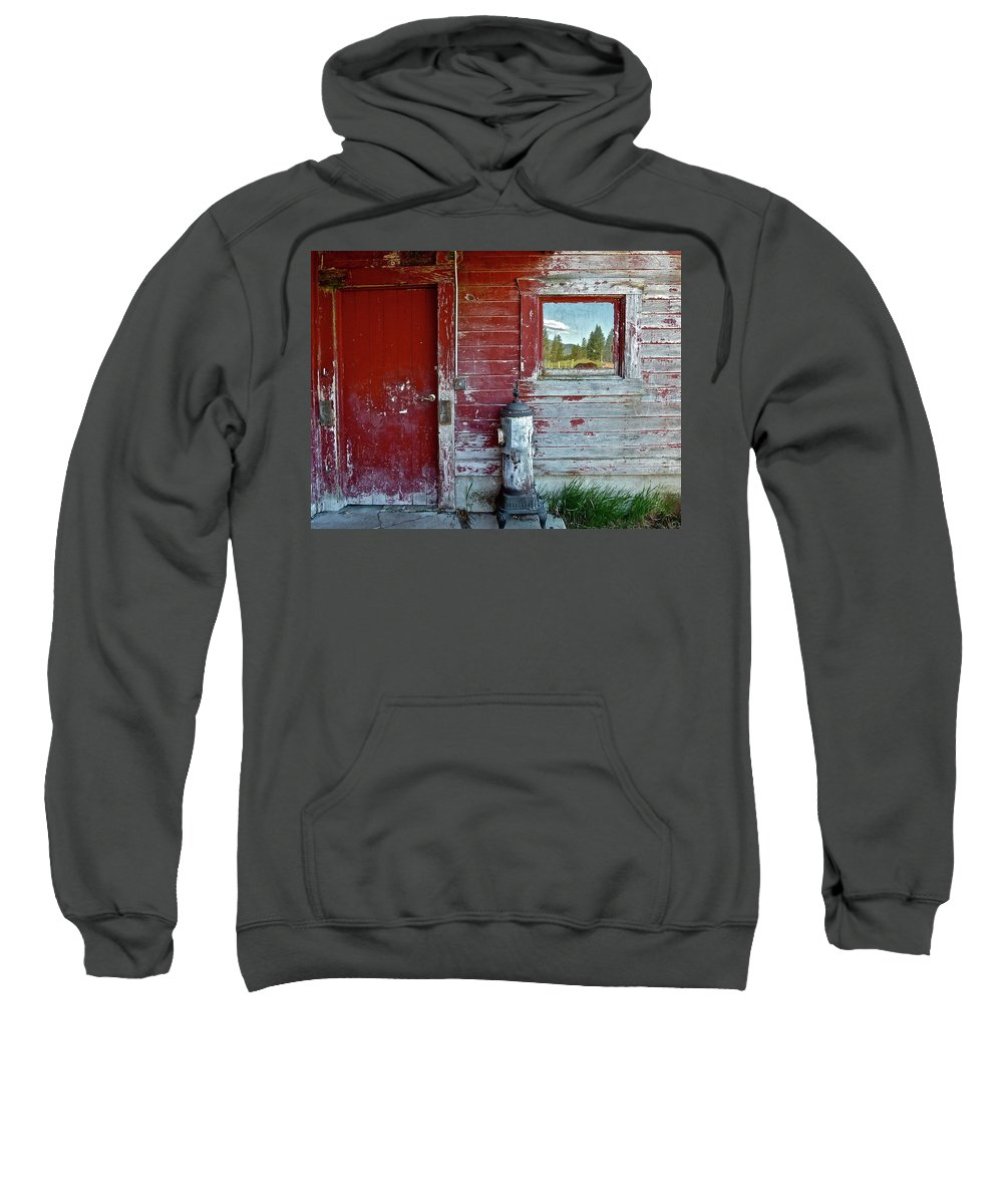 Barn Sweatshirt featuring the photograph Reflecting The Landscape by Diana Hatcher
