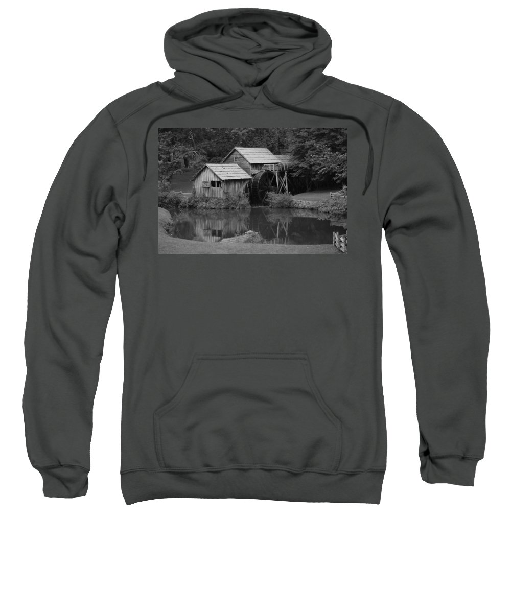 Mabry Mill Sweatshirt featuring the photograph Reflecting The Mill by Eric Liller
