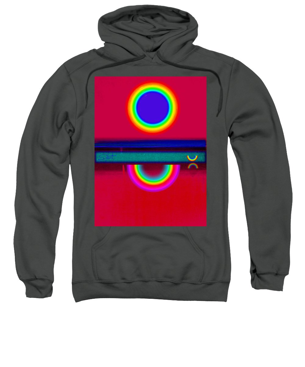 Reflections Sweatshirt featuring the painting Reflectins On A Sunset by Charles Stuart