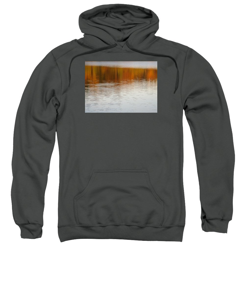 Water Sweatshirt featuring the photograph Fall Reflections 6 On Jamaica Pond by Giora Hadar