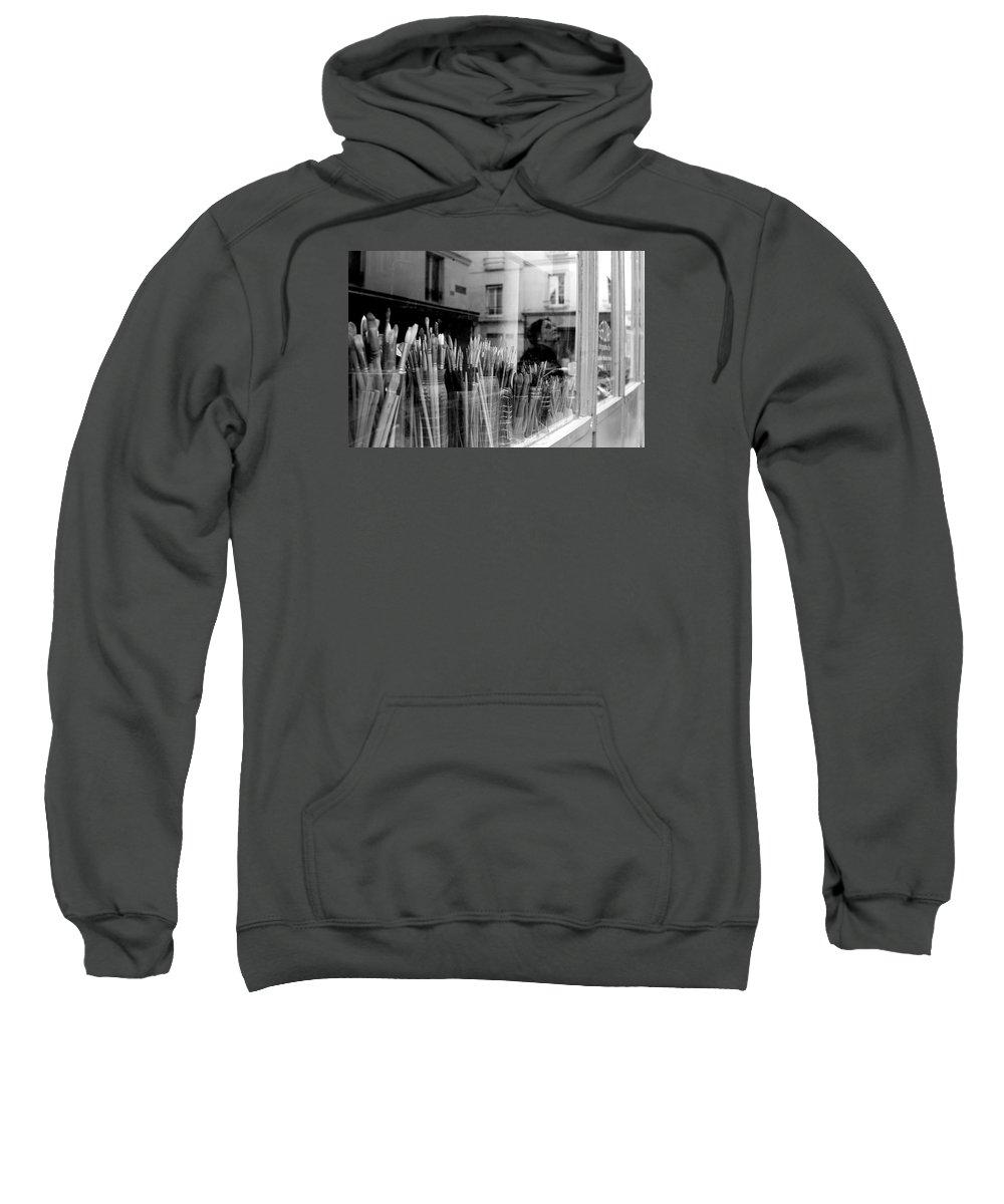 Reflection In The Window Sweatshirt featuring the photograph reflection in the Window by Win Naing