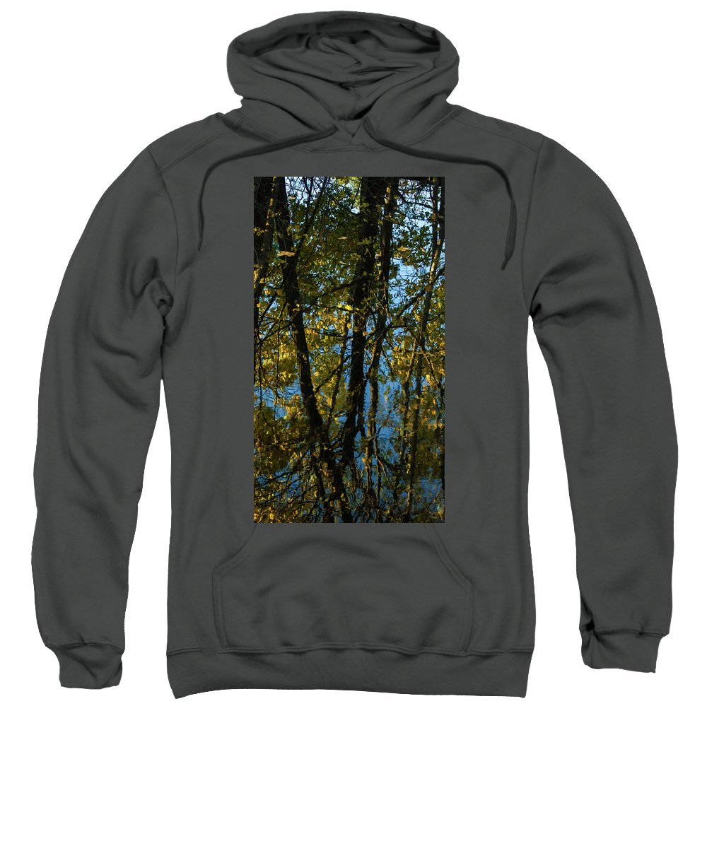 Reflection Sweatshirt featuring the photograph Reflections Fall by Kevin Myron