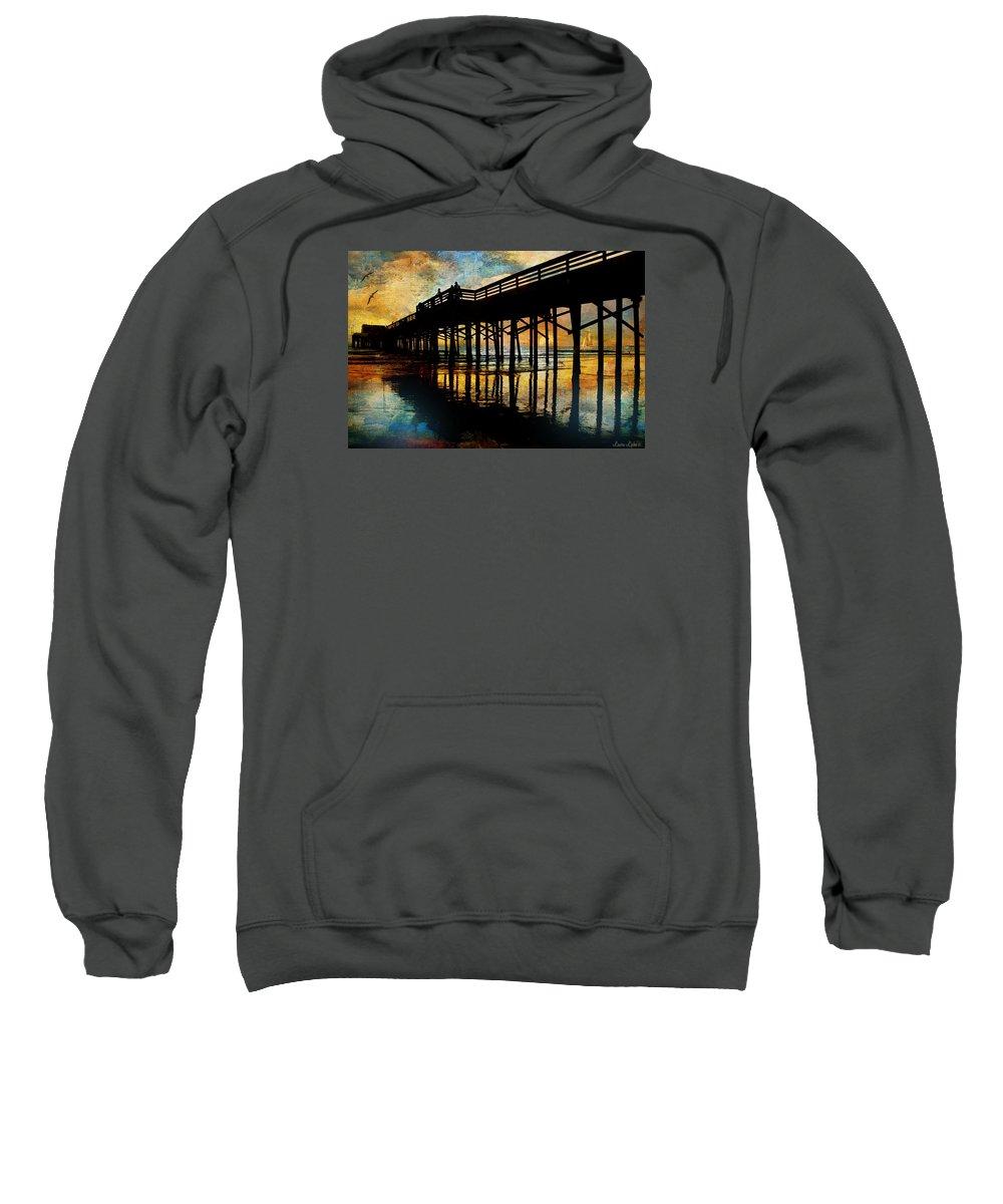 Sunset Sweatshirt featuring the digital art Reflections by Laura Lipke