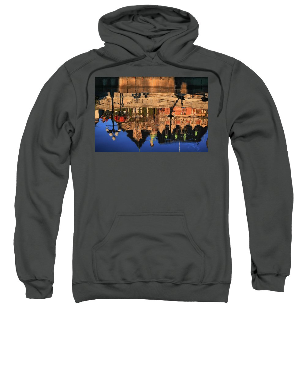 Empress Hotel Sweatshirt featuring the photograph Reflections Of An Empress by Seil Frary