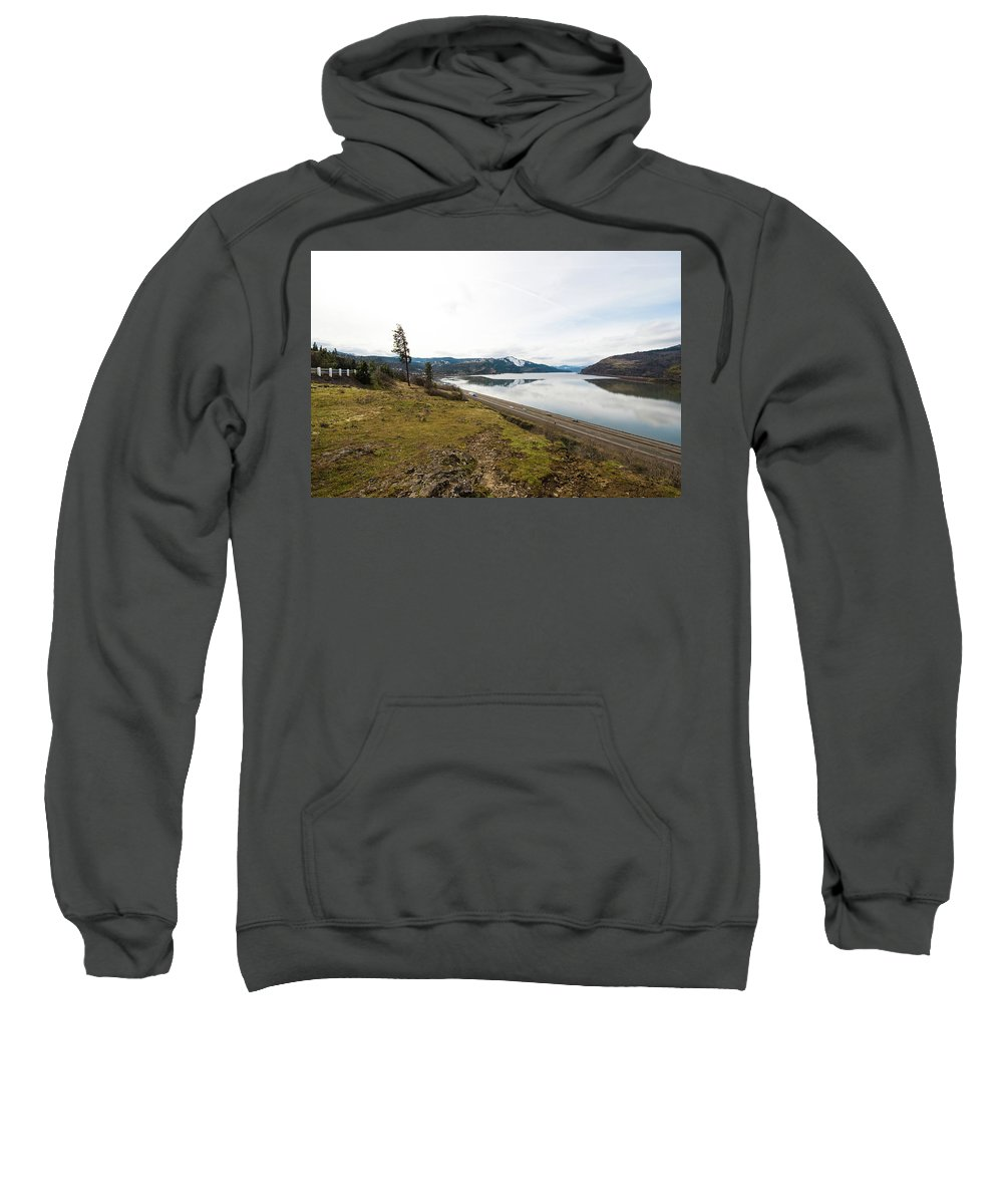 Mosier Sweatshirt featuring the photograph Reflections Of Mosier by Tom Cochran