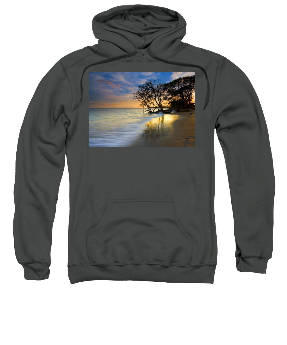 Waves Sweatshirt featuring the photograph Reflections Of Paradise by Mike Dawson