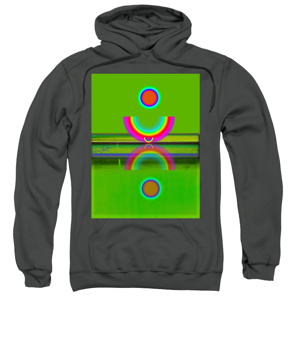 Reflections Sweatshirt featuring the painting Reflections On Lime by Charles Stuart