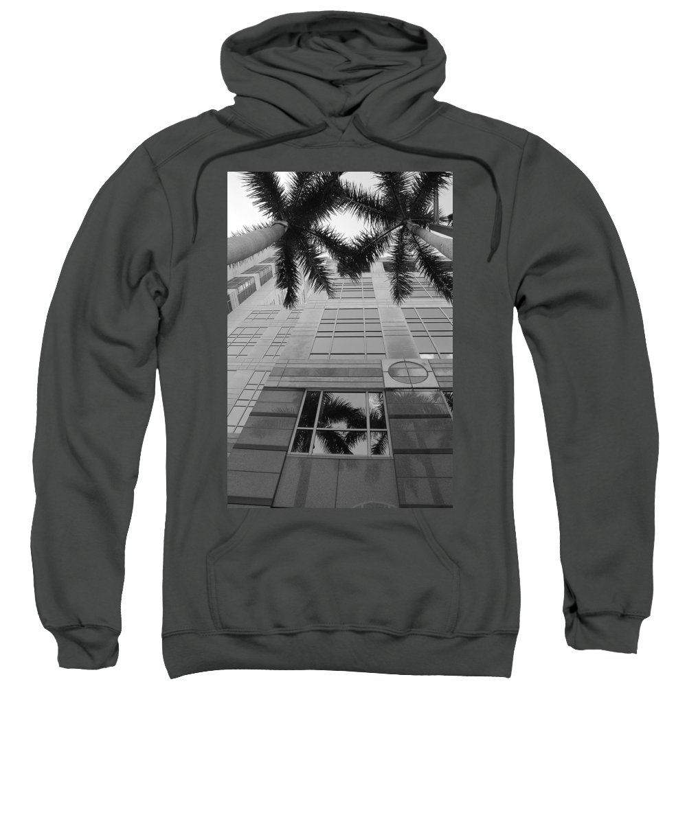 Architecture Sweatshirt featuring the photograph Reflections On The Building by Rob Hans
