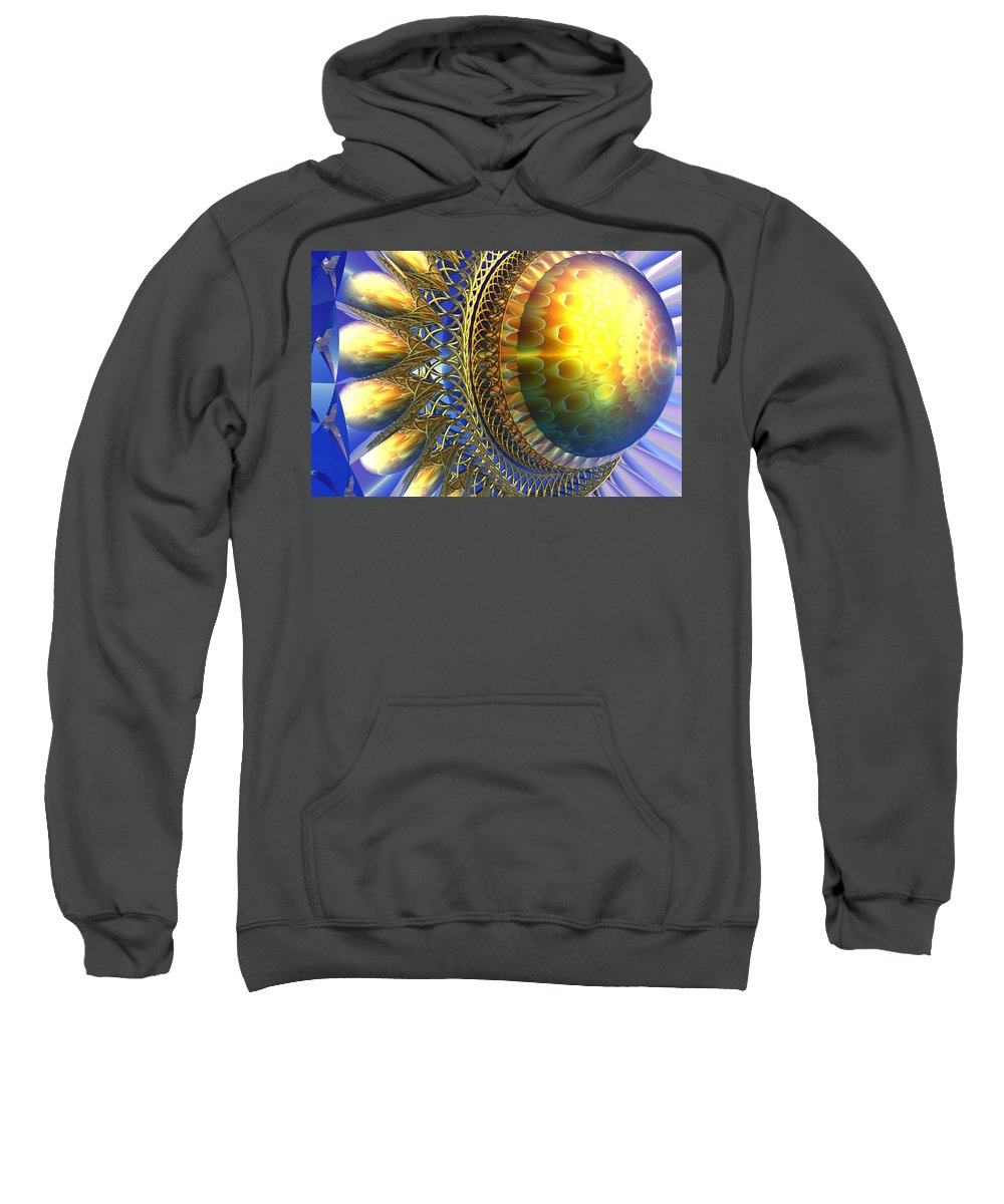 Bryce Sweatshirt featuring the digital art Reflections On The Day Just Beginning by Lyle Hatch