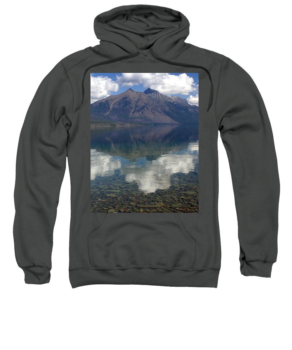 Lake Sweatshirt featuring the photograph Reflections On The Lake by Marty Koch