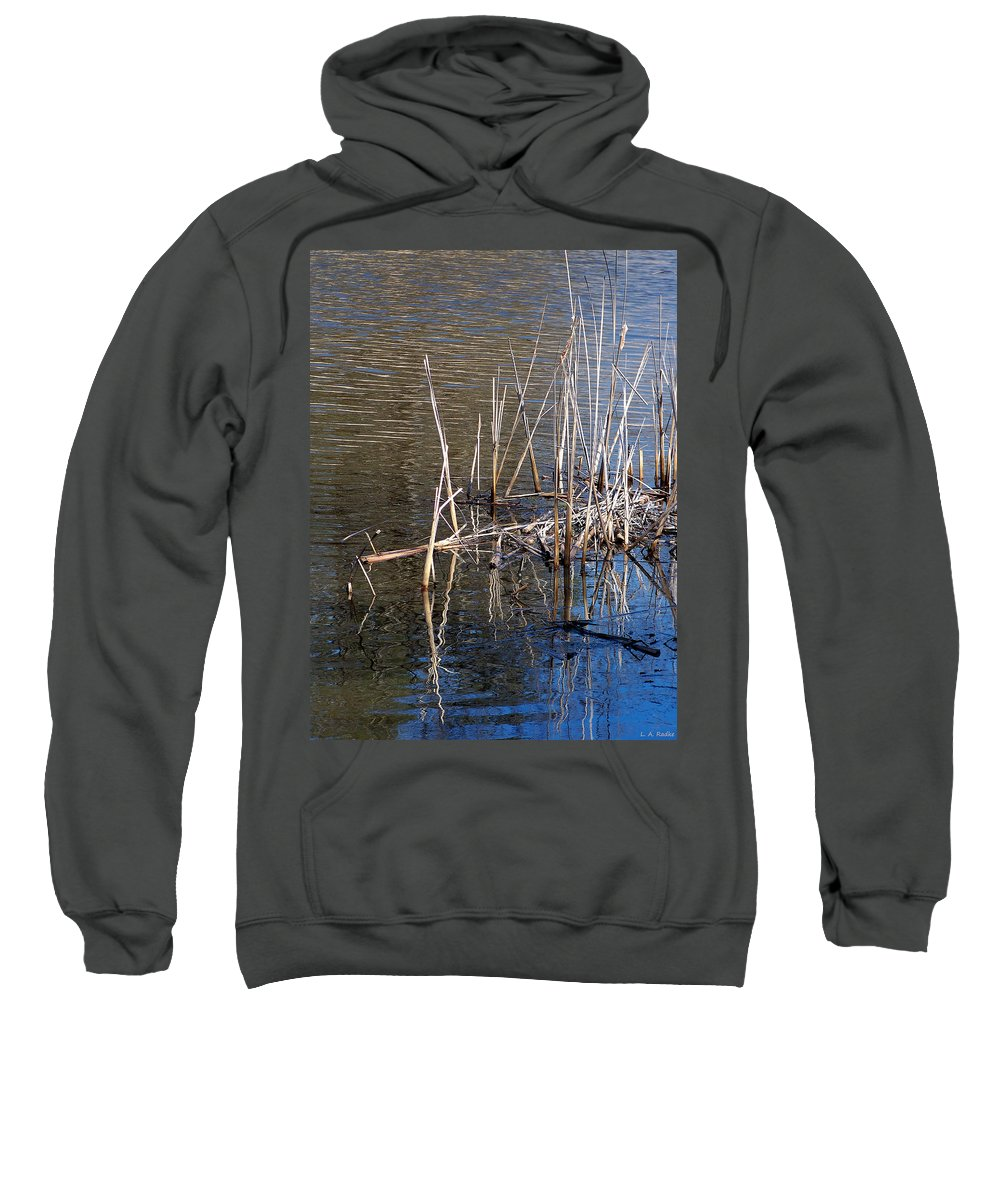 Nature Sweatshirt featuring the photograph Reflections On The Yellow River by Lauren Radke