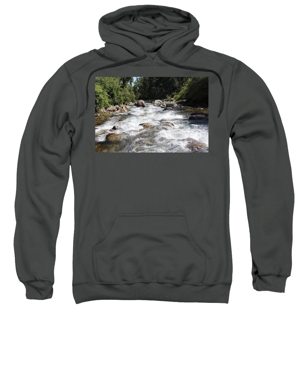 Refreshing By Valeria Trot Sweatshirt featuring the photograph Refreshing by Valeria New