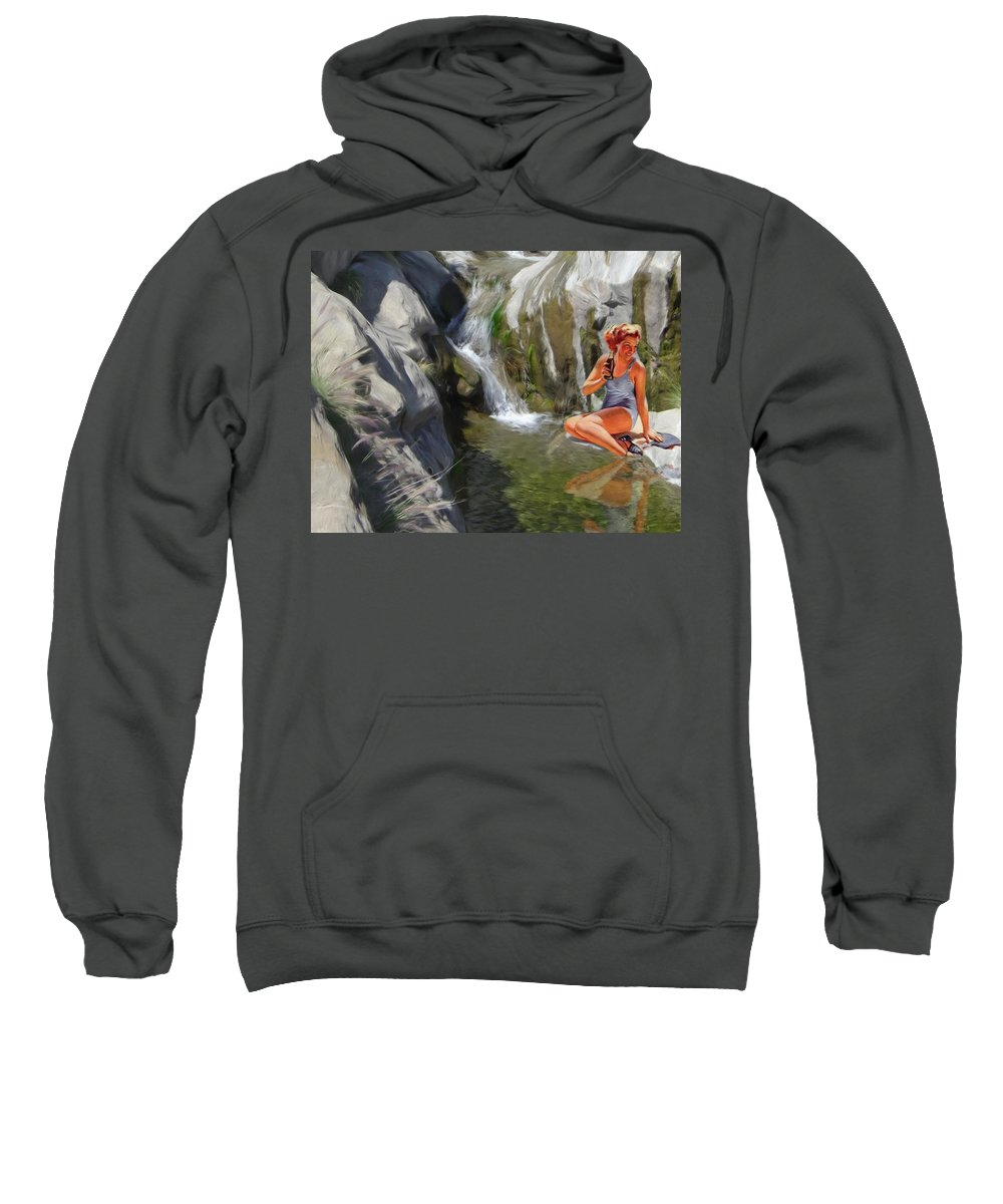 Deserts Sweatshirt featuring the digital art Refreshments by Snake Jagger