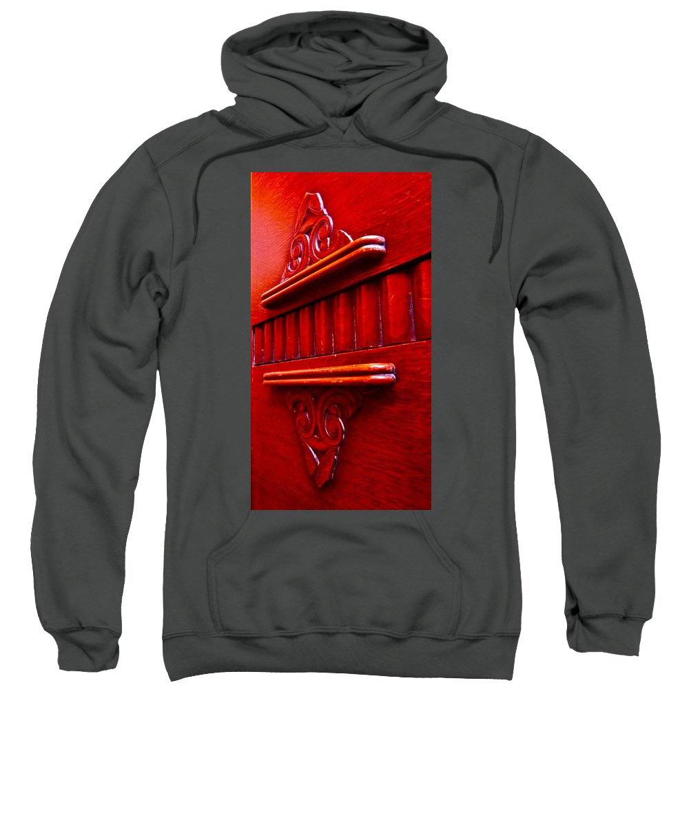 Photograph Of Credenza Sweatshirt featuring the photograph Regally Red by Gwyn Newcombe