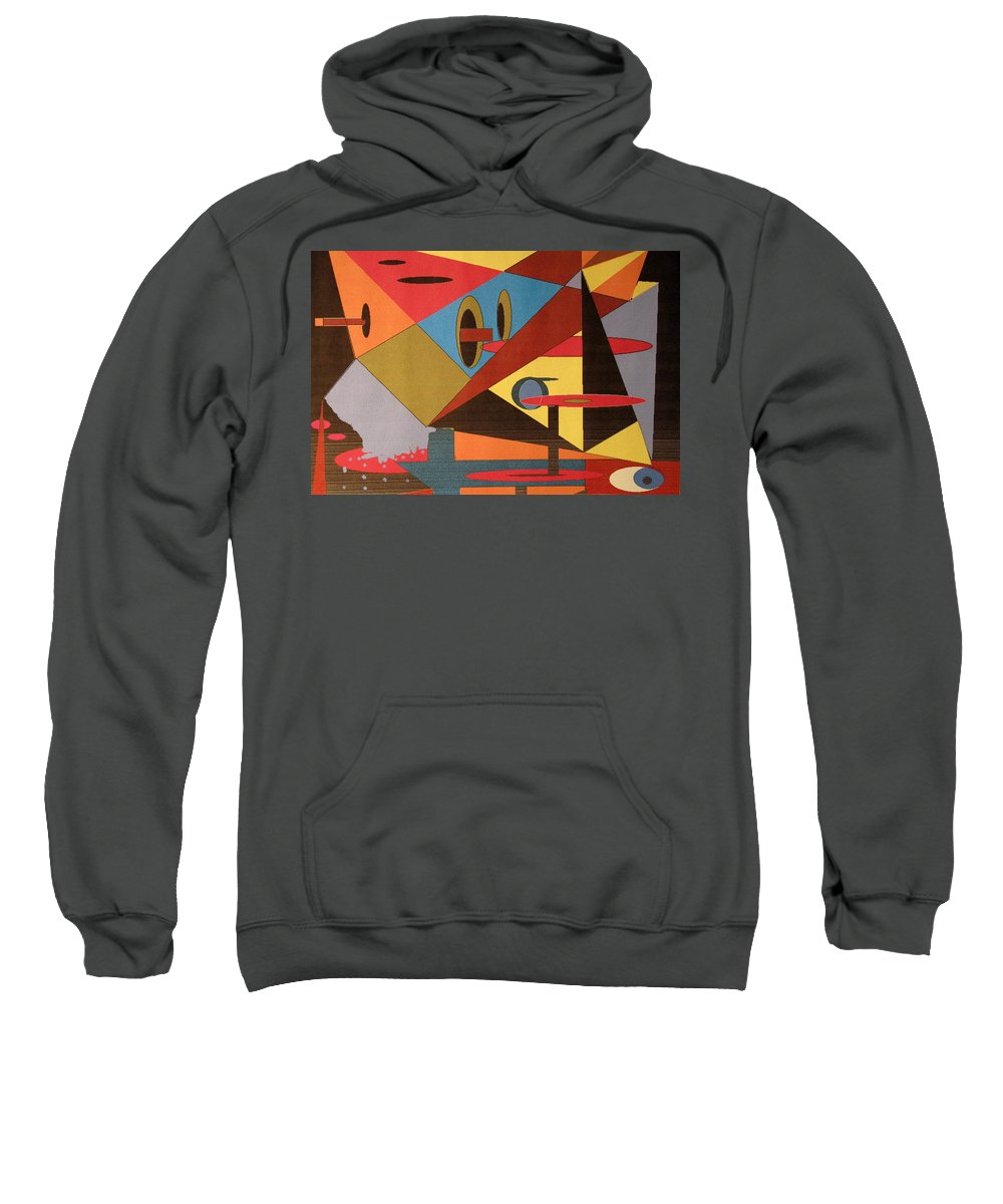 Abstract Sweatshirt featuring the digital art Regret by Ian MacDonald