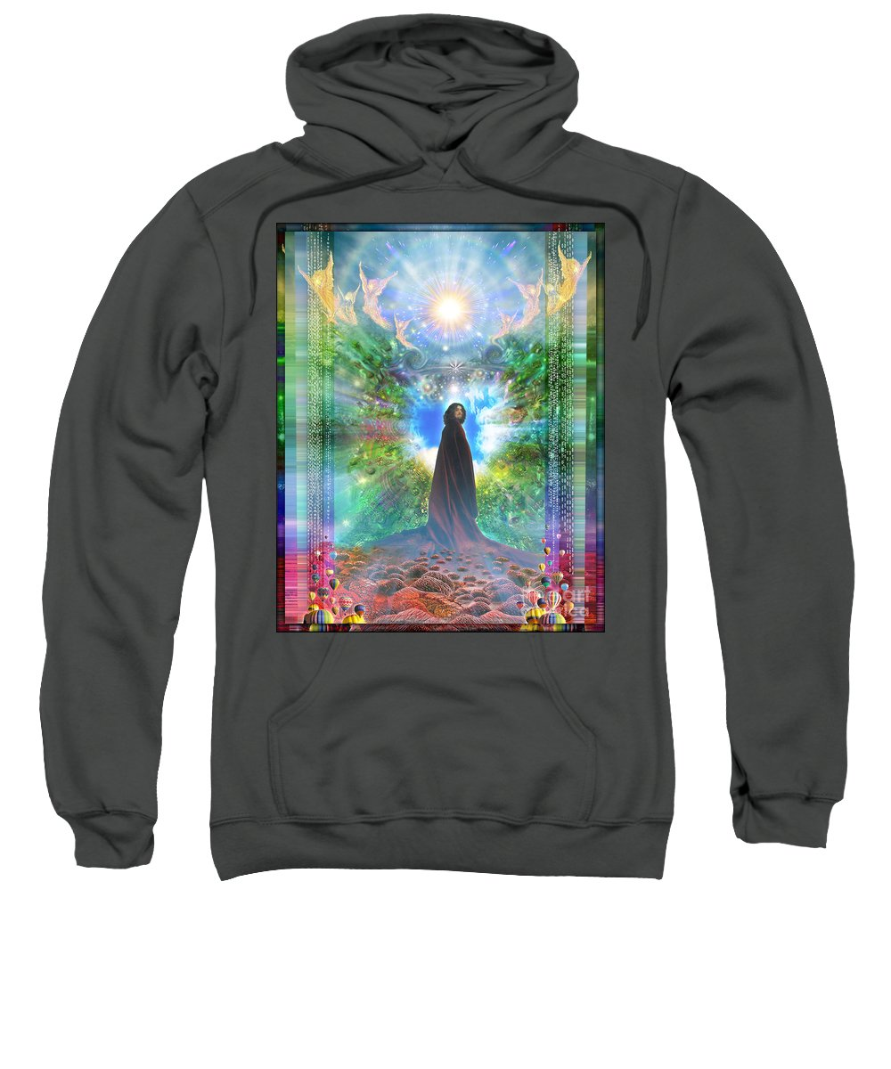 Angels Sweatshirt featuring the photograph Rejoice-thy-Young by Leonard Rubins