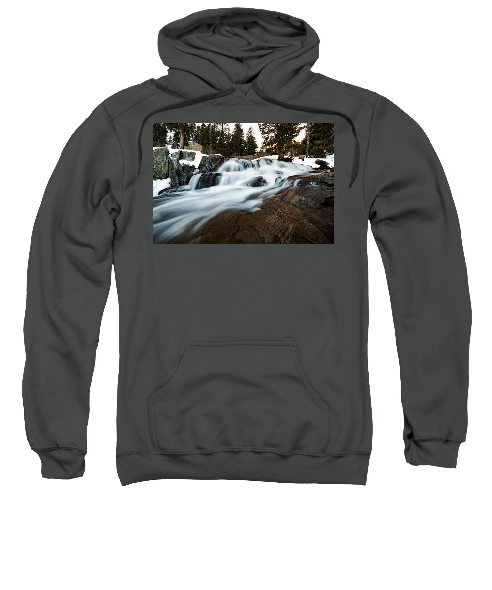 Landscape Sweatshirt featuring the photograph Rejuvenating Eagle Falls by Mike Herron