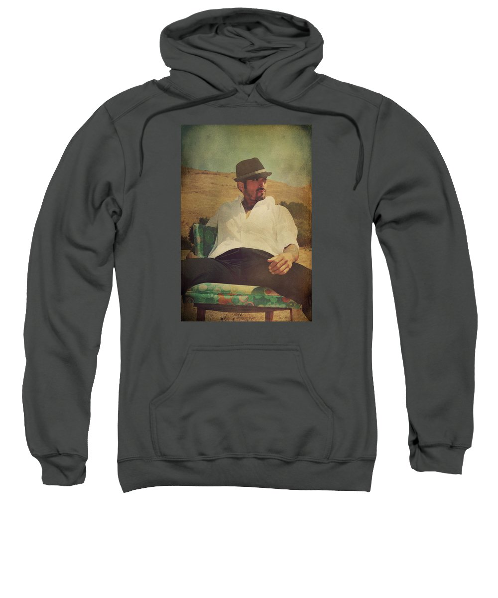 Man Sweatshirt featuring the photograph Relax And Stay A While by Laurie Search