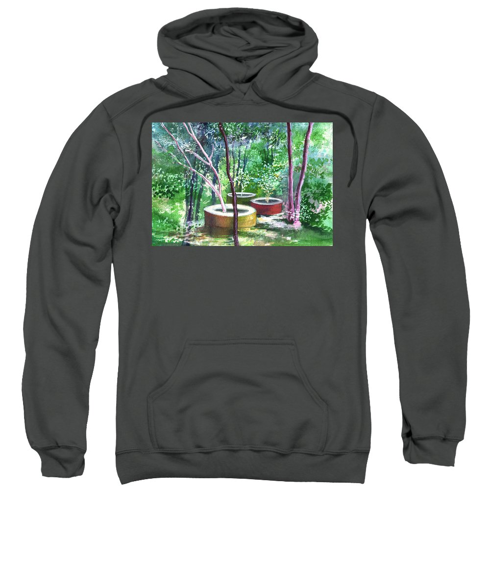 Opaque Landscape Sweatshirt featuring the painting Relax Here by Anil Nene