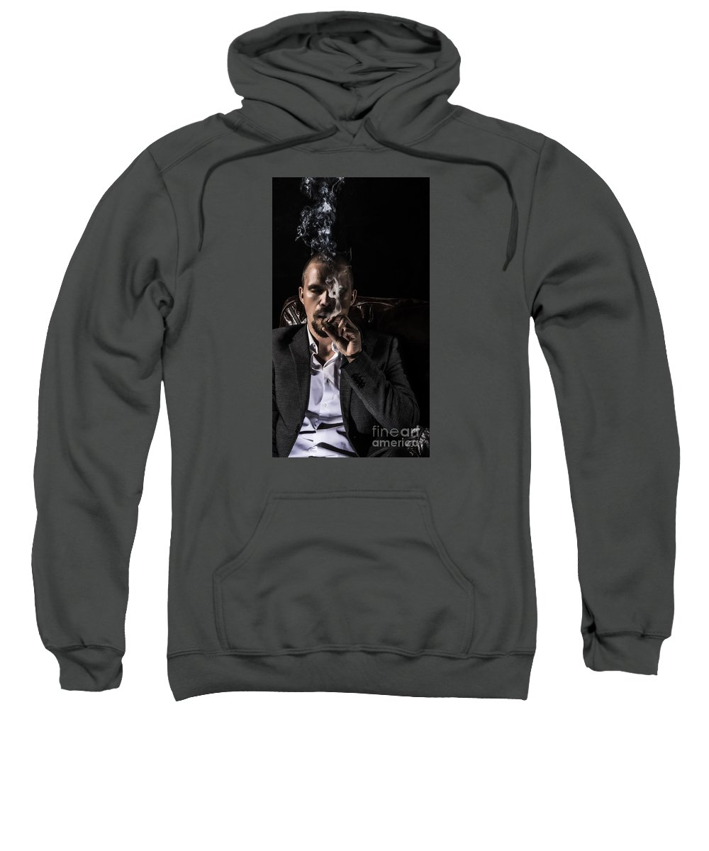 Cigar Sweatshirt featuring the photograph Relaxation by Sindre Engelstad