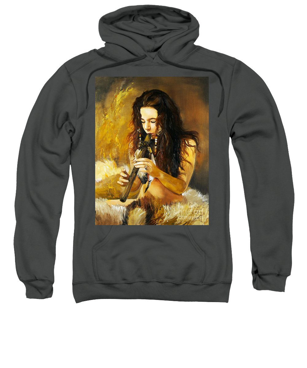 Woman Sweatshirt featuring the painting Release by J W Baker
