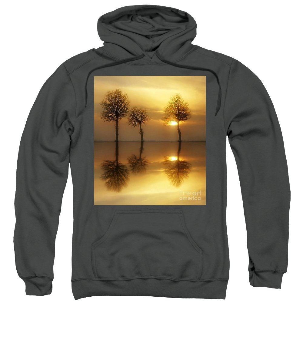 Sunset Sweatshirt featuring the photograph Remains Of The Day by Jacky Gerritsen