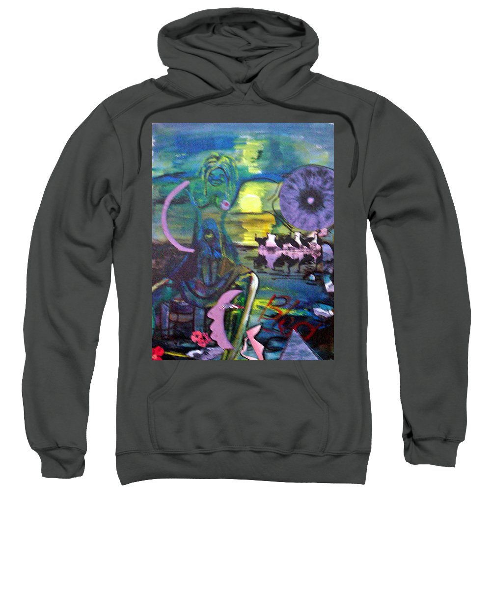 Water Sweatshirt featuring the painting Remembering 9-11 by Peggy Blood