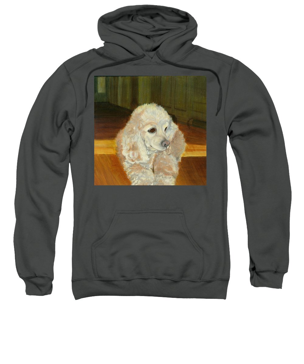 Animal Sweatshirt featuring the painting Remembering Morgan by Paula Emery