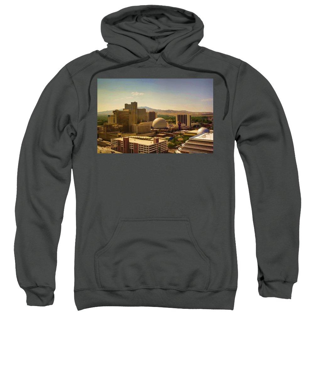 Reno Sweatshirt featuring the photograph Reno by Ricky Barnard