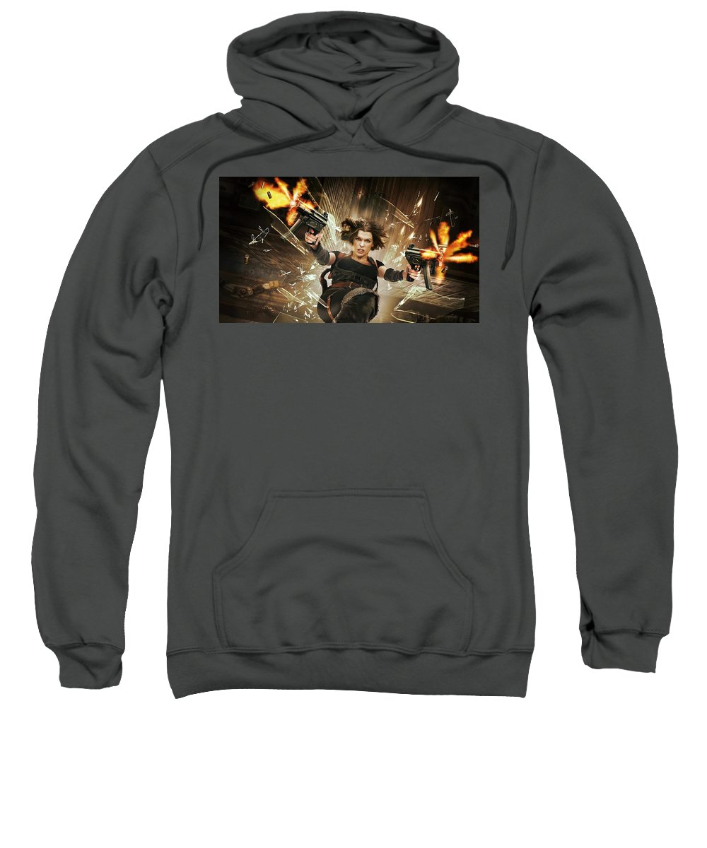 Resident Evil Afterlife Sweatshirt featuring the digital art Resident Evil Afterlife by Bert Mailer