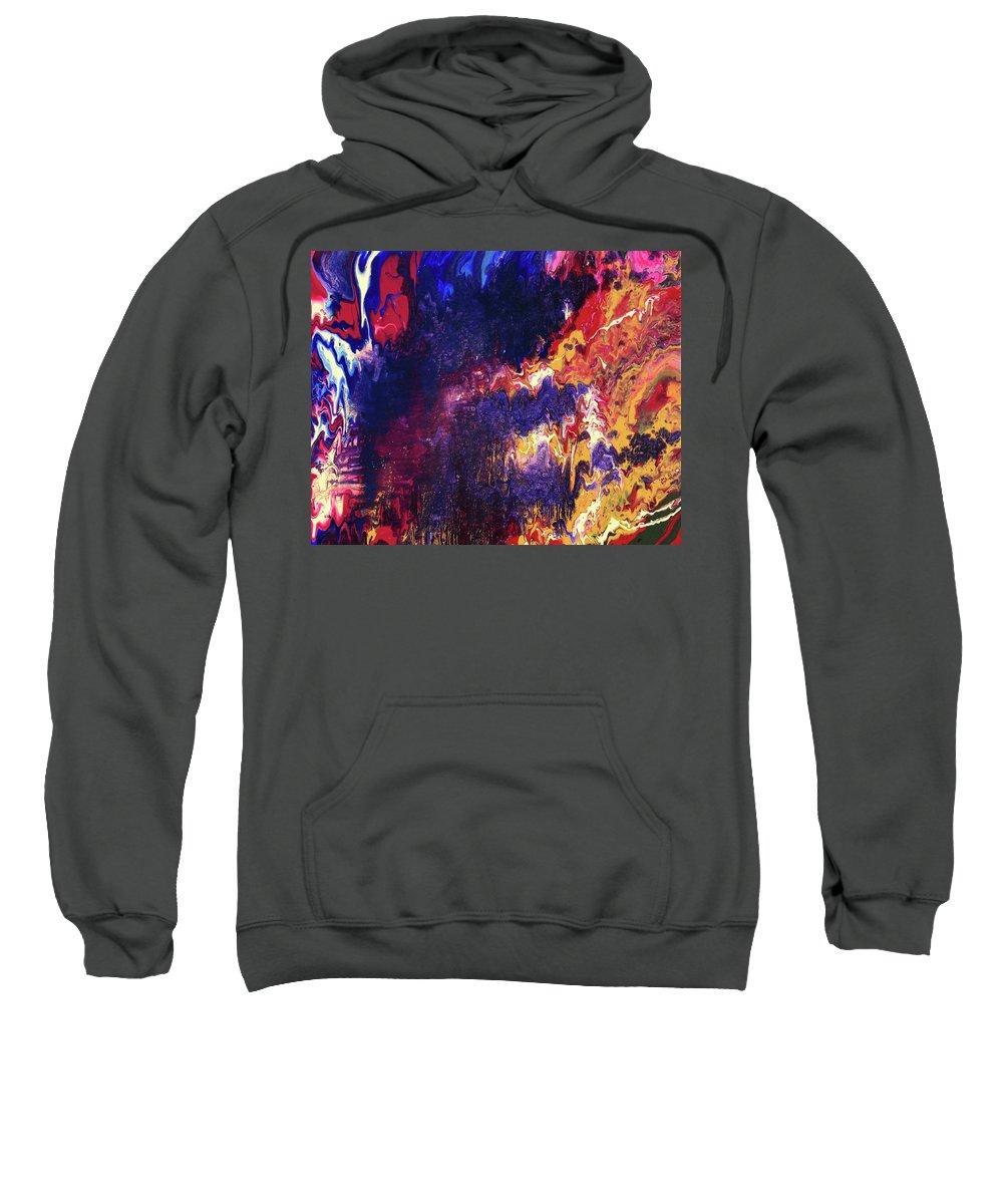 Resonance Sweatshirt featuring the painting Resonance by Ralph White