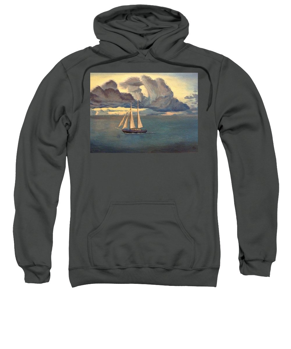 Seascape Sweatshirt featuring the painting Rest In The Midst by Kimberley Gates